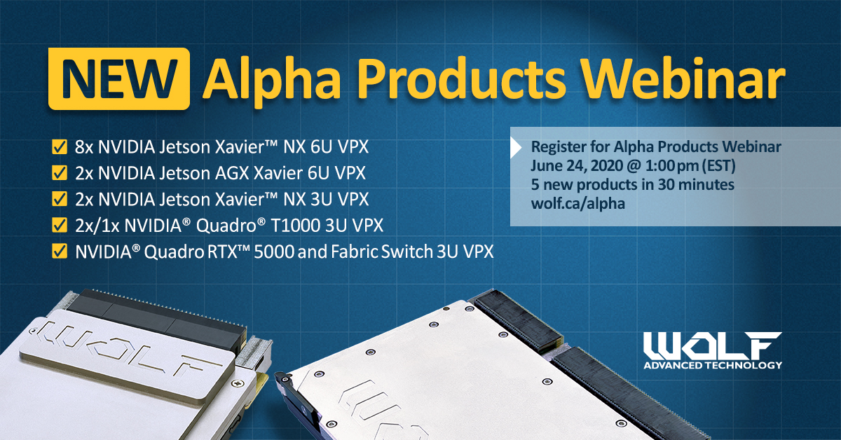 Register for the Alpha Products Webinar